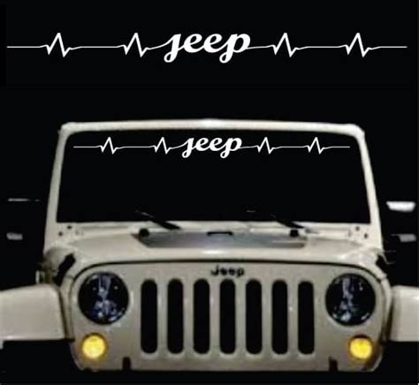 jeep heartbeat windshield jeep heartbeat jeep sticker custom