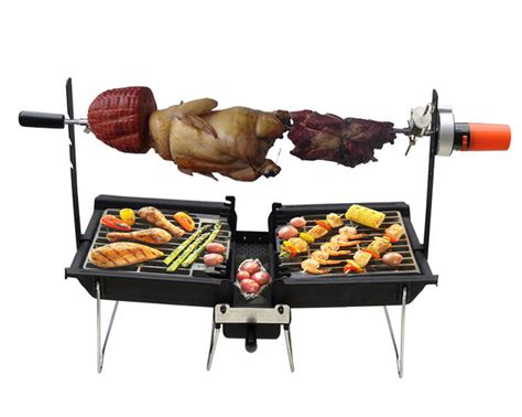 outdoor used rotator grill charcoal rotisserie bbq machine