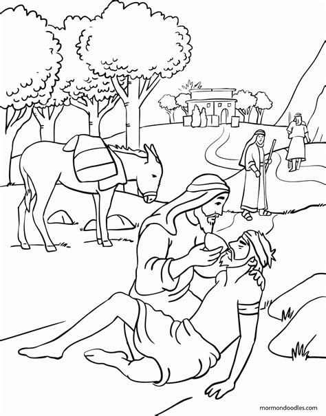 The Samaritan Coloring Pages mormon doodles the samaritan coloring page