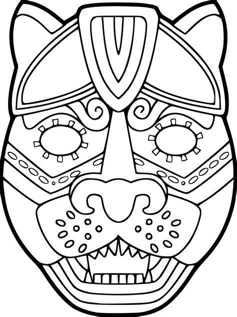 coloriage masque jaguar 224 imprimer