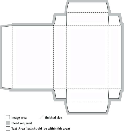 printable box template with lid a4 box template