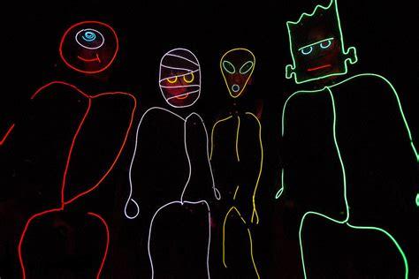 terry crews glow sticks gif stick figure costume el wire kit tron burning halloween