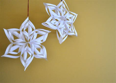 How To Make 3d Snowflakes Out Of Paper - paper snowflakes 3d autos post