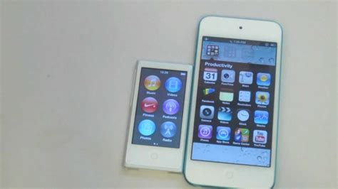 Ipod Nano Get A Touch Of Bovine by Ipod Touch 5th Generation Vs Ipod Nano 7th Generation