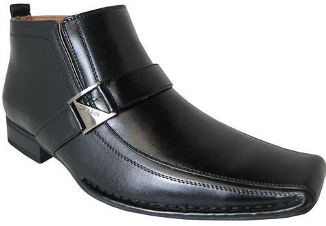 delli aldo mens square toe dress ankle boots shoes leather