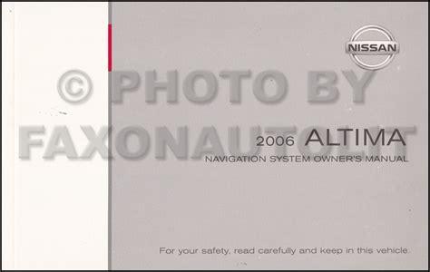 automotive repair manual 2007 nissan altima navigation system 2006 nissan altima navigation system owners manual original