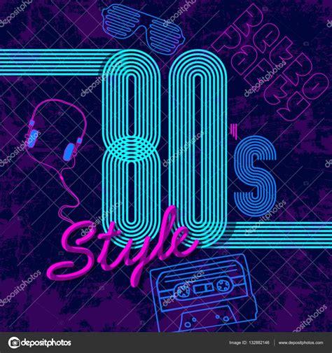 imagenes retro años 80 hacia los a 241 os 80 ne 243 n de disco dise 241 o retro estilo a 241 os