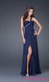 Prom dresses celebrity dresses sexy evening gowns navy one shoulder
