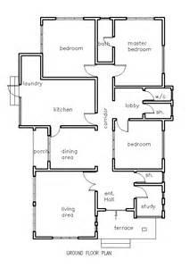 House Plans Ghana 3 Bedroom House Plan For A Half Plot 3 Bedroom Home Design Plans