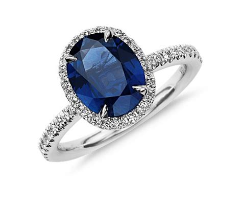 oval cut sapphire engagement ring