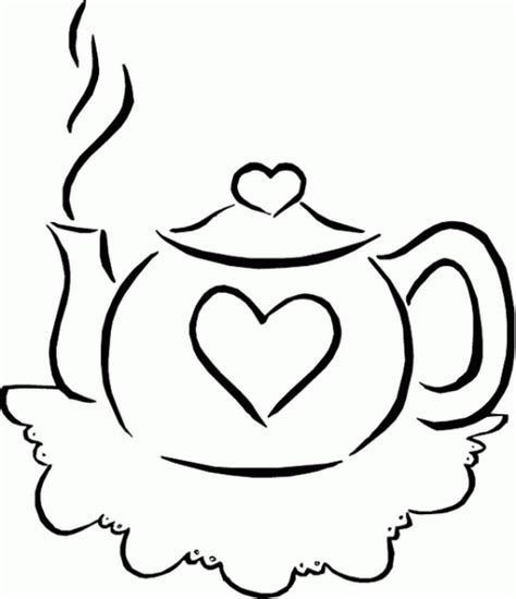 tea coloring pages teacup sets and teapot coloring pages coloring pages