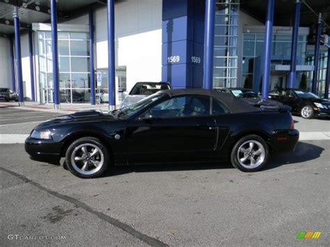 2004 ford mustang black 2004 black ford mustang gt convertible 57440290 photo 2