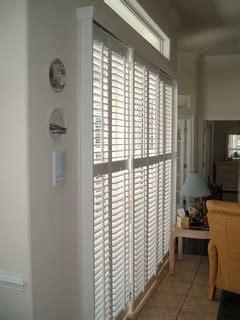 plantation shutters  sliding glass doors