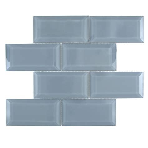 shop gbi tile amp stone inc blue mosaic glass subway tile
