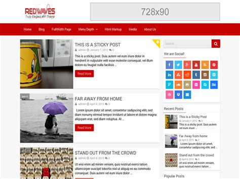 themes wordpress gratuit 2015 th 232 me wordpress gratuit redwaves lite theme wordpress