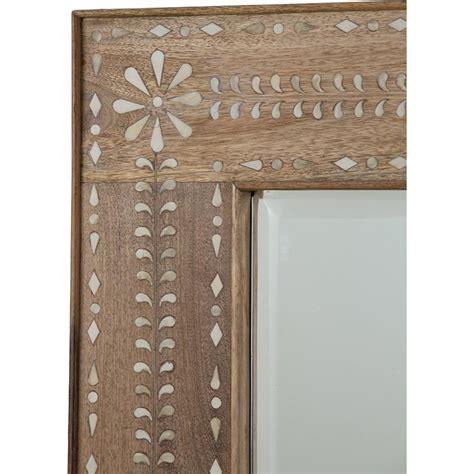 bone inlay mirror bila bazaar floral bone inlay wood mirror kathy kuo home