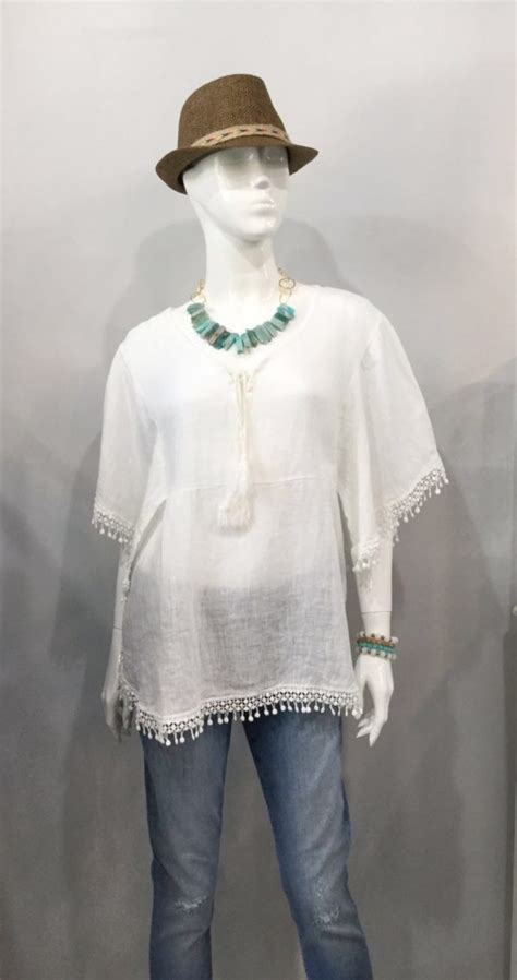 Camella Tunic Blue Rinaya what to wear this week from the boutiques