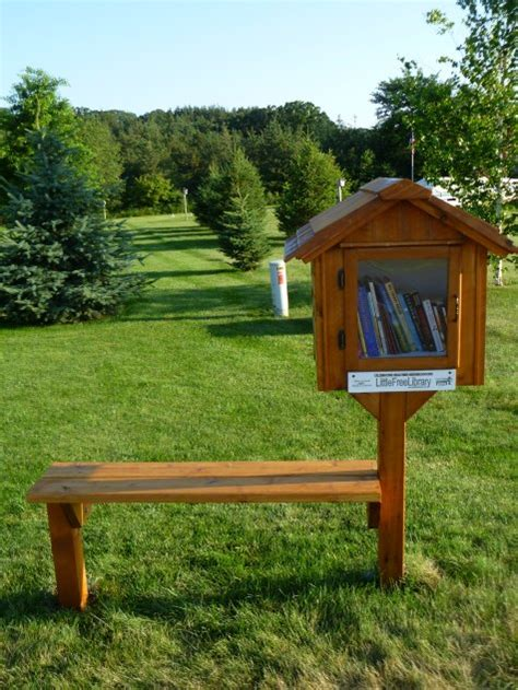 library bench 21 diy little free library designs