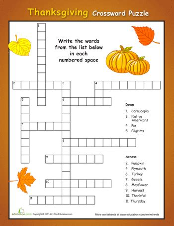printable puzzles thanksgiving printable thanksgiving crossword puzzles happy easter