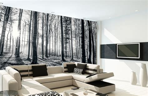 wallpaper for walls stores black and white forest wallpaper murals online store