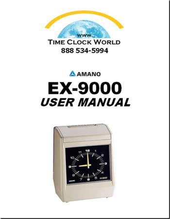 Mesin Amano Ex 9000 amano ex9000 series electronic time clock user manual