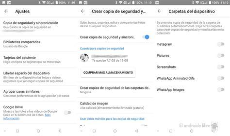 guardar imagenes google android c 243 mo guardar las fotos de whatsapp o instagram en google fotos