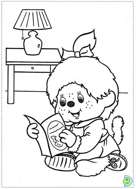 Monchhichi Coloring page  DinoKids.org