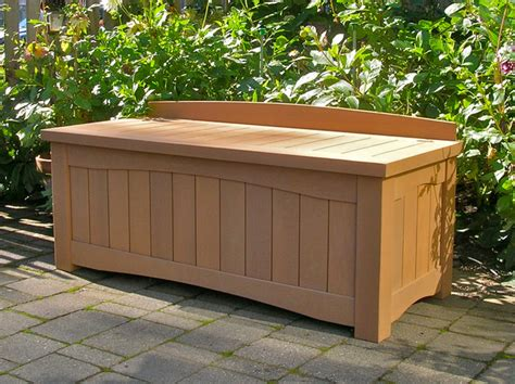 Outdoor Bench With Storage Garden Storage Bench Contemporary Outdoor Benches Vancouver By Curtis Custom Woodwork