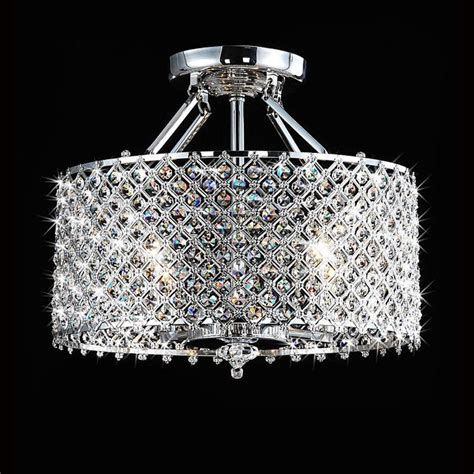 Chandelier With Shades And Crystals Details About Modern 4 Light Chandelier Drum Shade Pendant L Ceiling Lighting