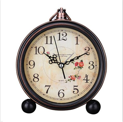Vintage Retro Europian Antique Alarm Clock Shape Big Size Jam Meja 1 shape vintage retro alarm clock desktop for bedroom silence no ticking 7