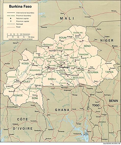 burkina faso map nationmaster maps of burkina faso 9 in total