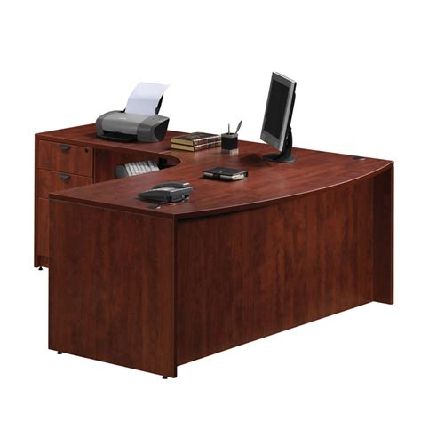 Front Office Desks Left Return Bow Front Desk
