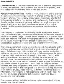 mobile phone policy in the workplace template best photos of no cell phone templates no cell phone