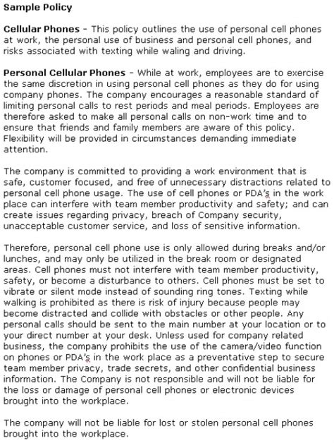 mobile phone policy in the workplace template texting at work and social media distractions costing billions