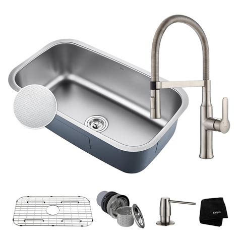 kraus outlast all in one undermount stainless steel 32 in