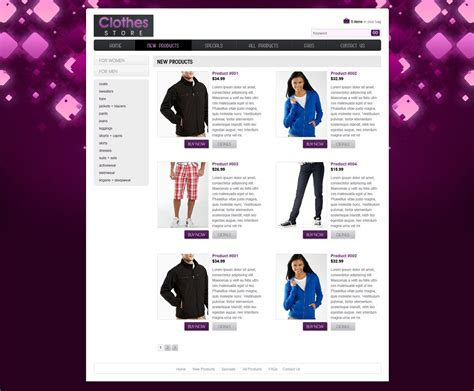 shopping website template free ecommerce website