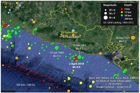 earthquake history map offshore el salvador earthquake strikes location of deadly