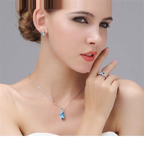 Kalung Choker Silver Pria Wanita teardrop pendants necklace 925 sterling silver kalung wanita purple