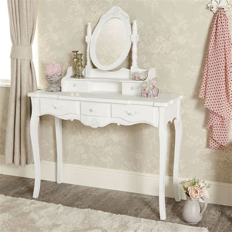 Vanity Con by Vintage White Dressing Table Vanity Mirror Chic