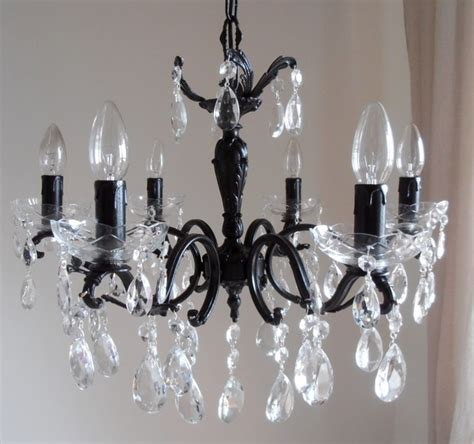 Contemporary Black Chandelier 1950s Contemporary Black Chandelier