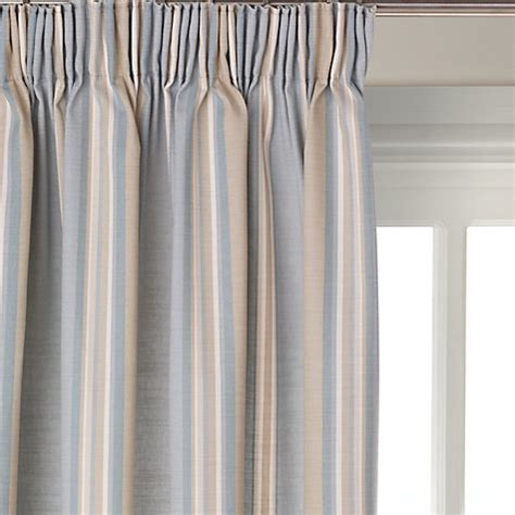 stripe blackout curtains buy john lewis alban stripe blackout lined pencil pleat