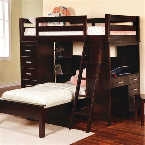 Bunk Bed With Table Loft Bunk Bed Desk Home Design Ideas