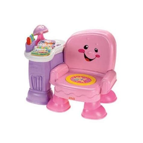 fisher price laugh and learn learning chair pink