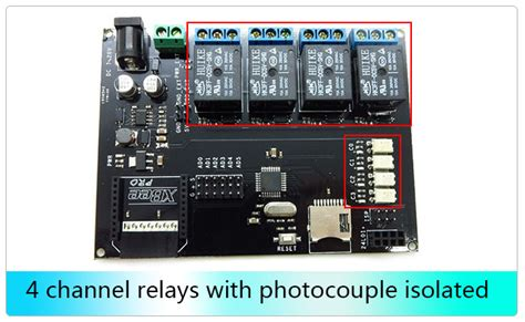 rboard arduino atmega328 4 channels isolated relays board