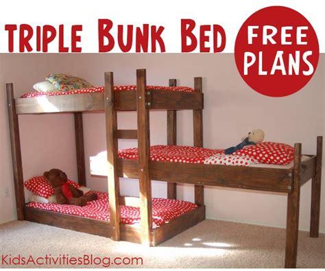 Bunk Bed Plans Free Bed Plans Diy Blueprints Free Bunk Bed