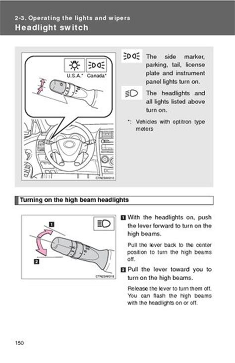 download car manuals pdf free 2005 toyota corolla on board diagnostic system download 2009 toyota corolla operating the lights and wipers pdf manual 5 pages