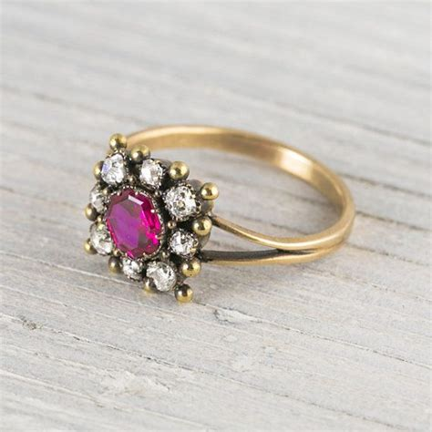 antique 55 carat ruby engagement ring