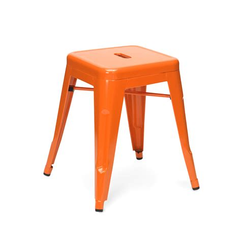 Stool Is Orange orange stool 45cm