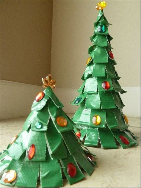easy kids christmas craft diy duct tape trees my kids