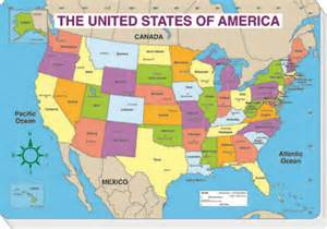 us map with states and capitals labeled carson dellosa u s map pad labeled 16 x 10 75 inches
